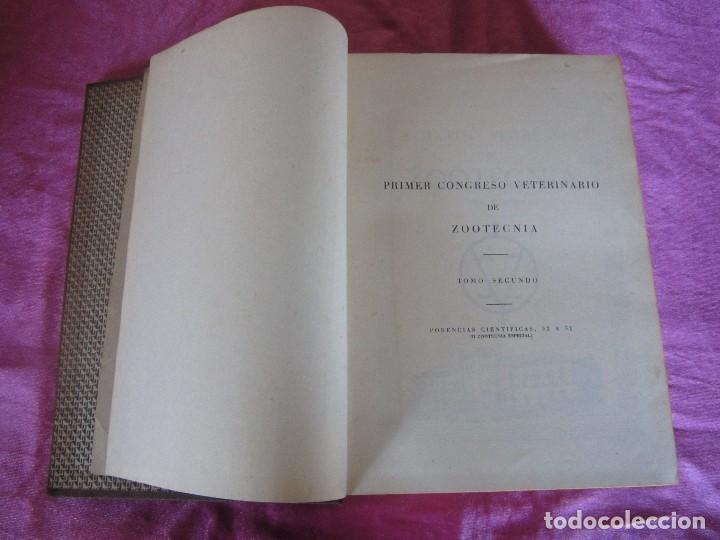 Libros antiguos: PRIMER CONGRESO VETERINARIO DE ZOOTECNIA TOMO 2 - Foto 5 - 115869619