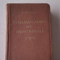 Libros antiguos: FORMULARIO DEL INGENIERO. Lote 116164099