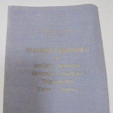 Libros antiguos: RESUMEN FORMULARIO DE ANALISIS, GEOMETRIA, TRIGONOMETRIA, GEOMETRIA ANALITICA, FISICA, QUIMICA. 1959. Lote 277686203