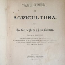 Libros antiguos: TRATADO ELEMENTAL DE AGRICULTURA - D. GALO DE BENITO Y LÓPEZ ESCRIBANO 1891. Lote 117270159