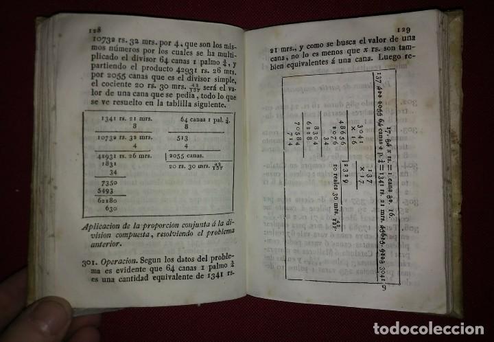Libros antiguos: 1841 ARITMÉTICA CIENTÍFICO PRÁCTICA Numerado y firmado Cayetano Rivera Parte primera - Foto 7 - 117926991