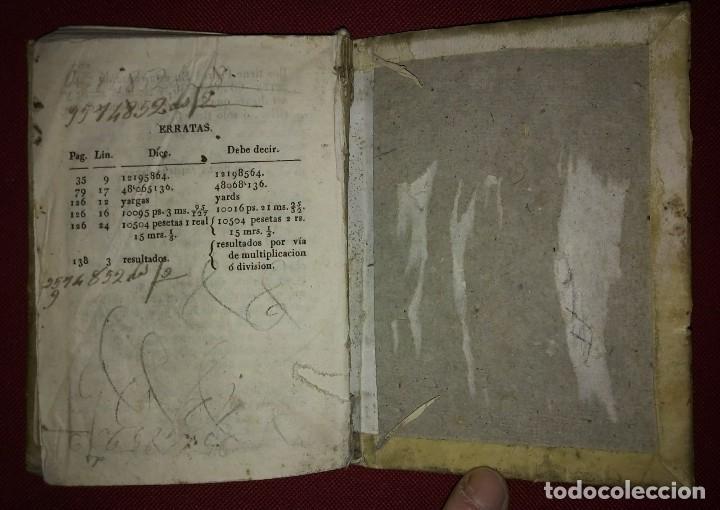Libros antiguos: 1841 ARITMÉTICA CIENTÍFICO PRÁCTICA Numerado y firmado Cayetano Rivera Parte primera - Foto 8 - 117926991