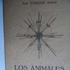 Libros antiguos: LOS ANIMALES MARINOS ENRIQUE RIOJA 1929 EDITORIAL LABOR . Lote 118113471