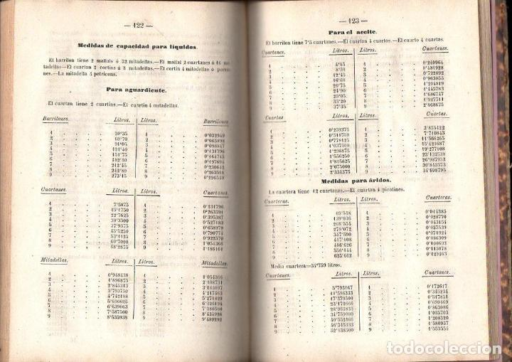 Libros antiguos: DE LA CUEVA Y SERRANO : SISTEMA MÉTRICO LEGAL SEGUIDO DEL SISTEMA MONETARIO (MÁLAGA, 1868) - Foto 3 - 119321675