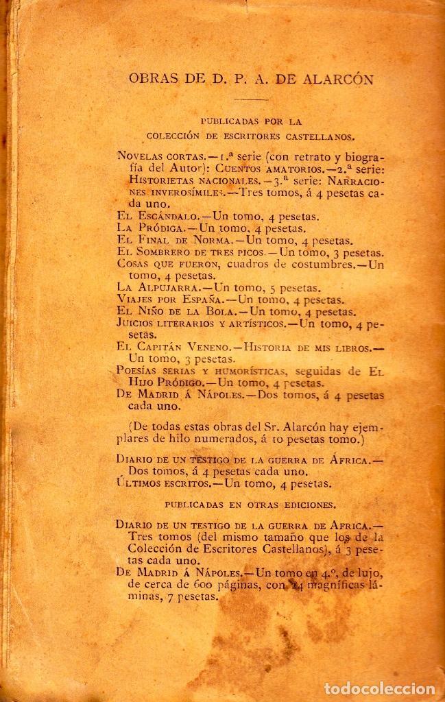 Libros antiguos: DIARIO DE UN TESTIGO DE LA GUERRA DE ÁFRICA. PEDRO ANTONIO DE ALARCÓN (VOLUNTARIO EN LA CAMPAÑA). - Foto 4 - 120074011