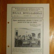 Libros antiguos: HOJAS DIVULGADORAS MINISTERIO AGRICULTURA 1935 Nº 23 AÑO XXIX PREPARACION DE TRIGOS PARA SIEMBRA. Lote 120106779