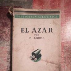 Libros antiguos - El azar - Emilio Borel - 1935 - 120346467