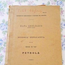 Libros antiguos: 1931 MAPA GEOLÓGICO ESPAÑA Nº 25 PETROLA GEOLOGIA. Lote 49264158