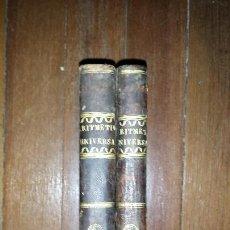 Libros antiguos: ARITMÉTICA UNIVERSAL PURA TESTAMENTÁRIA ECLESIÁSTICA Y COMERCIAL. DIEGO NARCISO. 1818. TOMOS I Y II. Lote 121348563