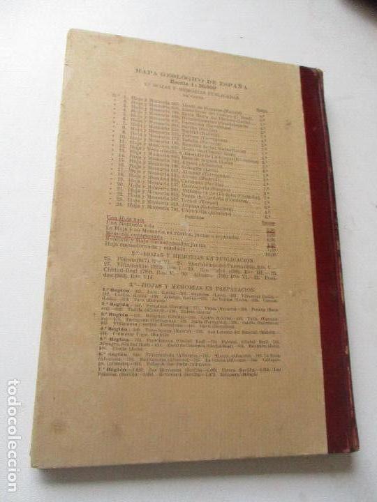 Libros antiguos: INSTITUTO GEOLÓGICO Y MINERO DE ESPAÑA-MAPA GEOLÓGICO MEMORIA EXPLICATIVA DE LA HOJA Nº 433-ATIENZA- - Foto 8 - 122000743