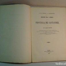 Libros antiguos: AMALIO MAESTRE: DESCRIPCIÓN FÍSICA Y GEOLÓGICA DE LA PROVINCIA DE SANTANDER (1864). Lote 125202140