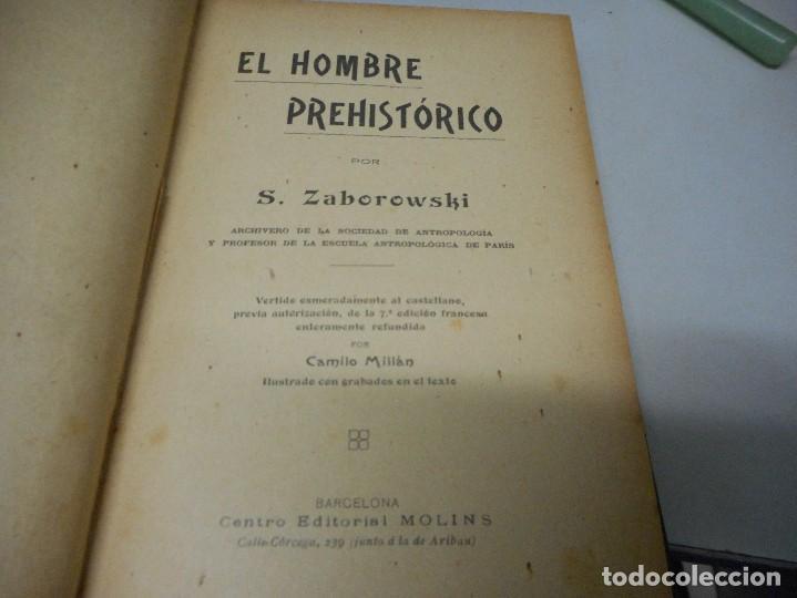 Libros antiguos: el hombre prehistorico por zaborowski antiguo sin fecha - Foto 3 - 122294875