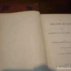 Libros antiguos: THE DESCENT OF MAN. CHARLES DARWIN.. Lote 122338595