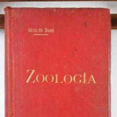 Libros antiguos: TRATADO ELEMENTAL DE ZOOLOGÍA. ODÓN DE BUEN. 2º EDICIÓN. BARCELONA. 1895.. Lote 122342195