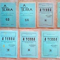 Libros antiguos: 1935 LOTE 9 REVISTAS A TERRA SISMOLOGÍA GEOFÍSICA REVISTA PORTUGUESA RAUL MIRANDA. Lote 122911827