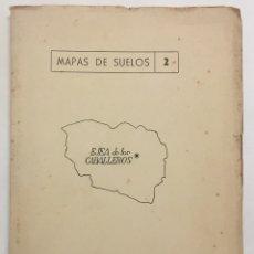 Libros antiguos: MEMORIA DEL MAPA DE SUELOS DEL TÉRMINO MUNICIPAL DE EJEA DE LOS CABALLEROS (ZARAGOZA). - GUERRA, ANT. Lote 123198606