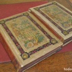 Libros antiguos: LA VIDA DE LAS FLORES ALFONSO KARR Y GRANDVILLE - 62 LÁMINAS - 2 TOMOS 1878 - AFFB. Lote 124175543