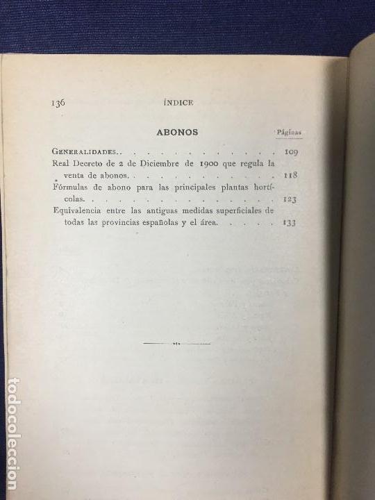 Libros antiguos: Guía del horticultor cultivo de hortalizas y forrajes 10 edición Hijos de Nonell 1920 - Foto 5 - 124488915