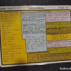 Libros antiguos: TABLA CALCULO INTEGRAL INTEGRALES ESCOLAR . Lote 124558107