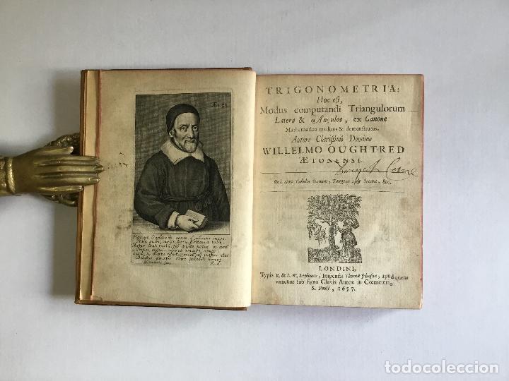 Alte Bücher: TRIGONOMETRIA: HOC EST, MODUS COMPUTANDI TRIANGULORUM Latera & Angulos, ex Canone Mathematico tradit - Foto 3 - 109022611