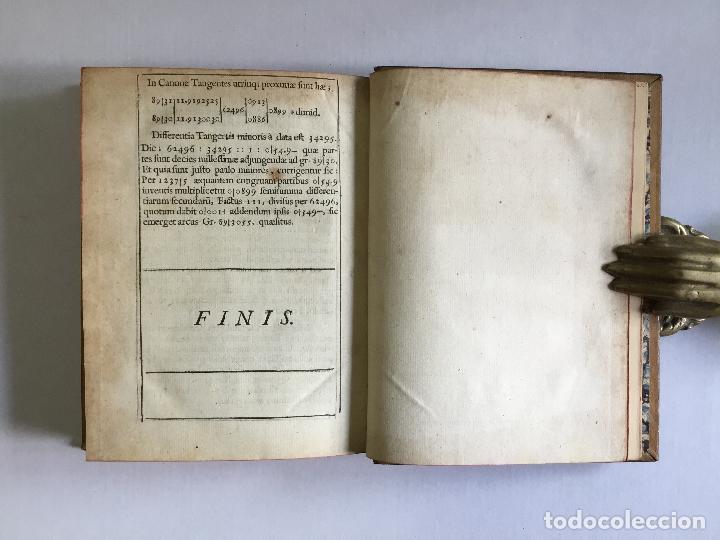 Alte Bücher: TRIGONOMETRIA: HOC EST, MODUS COMPUTANDI TRIANGULORUM Latera & Angulos, ex Canone Mathematico tradit - Foto 16 - 109022611