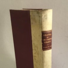Libros antiguos: BIBLIOTECA DE CONOCIMIENTOS HUMANOS... DISCURSO SOBRE LOS OBJETOS, VENTAJAS.... Lote 124616543