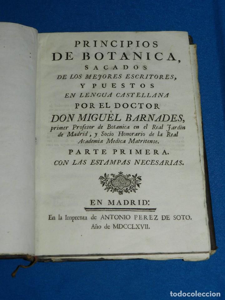 (MF) MIGUEL BARNADES - PRINCIPIOS DE BOTANICA SACADOS DE LOS MEJORES ESCRITORES, 1767 MADRID (Alte, seltene und kuriose Bücher - Wissenschaften, Handbücher und Berufe - Biologie und Botanik)
