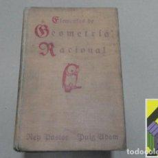 Libros antiguos: REY PASTOR/ PUIG ADAM: ELEMENTOS DE GEOMETRÍA RACIONAL. TOMO I: GEOMETRÍA PLANA. .... Lote 126006167