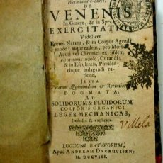 Libros antiguos: DE VENENIS IN GENERE, & IN SPECIE EXERCITATIO. JOHANNIS LINDER. AÑO 1708. Lote 126055619