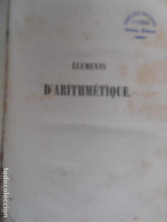 ELEMENTS D`ARITMETIQUE M. BOURDON PARIS 1849. PASTAS DURAS. (Libros Antiguos, Raros y Curiosos - Ciencias, Manuales y Oficios - Física, Química y Matemáticas)