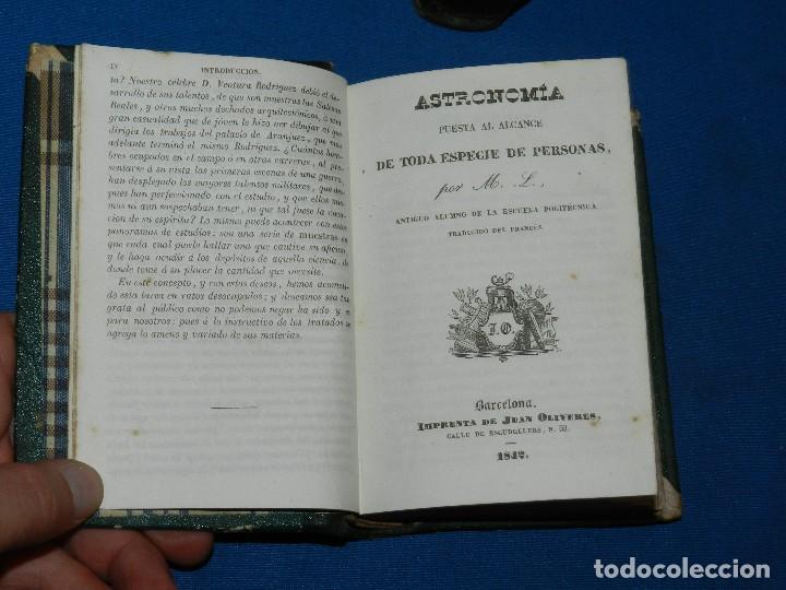Libros antiguos: (MF) M. L .- MOSAICO DE CONOCIMIENTOS CINTIFICOS 1842 ASTRONOMIA , HISTORIA NATURAL , GEOGRAFIA - Foto 4 - 127303967