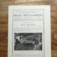 Libros antiguos: EL APIO. COLECC. HOJAS DIVULGADORAS, FEBRERO 1933. Lote 120273175