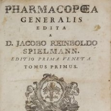 Libros antiguos: PHARMACOPEA GENERALIS EDIT TREUTTEL STRASBURG 1786. JACOBO REINBOLDO 3 TOMOS UN VOL.. Lote 127708763