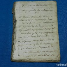 Libros antiguos: (M3.6) LIBRO MANUSCRITO DE ARTE DE FORMULAS MEDICINALES S.XIX , MAS DE 100 PAG , MANUSCRITAS. Lote 127858791
