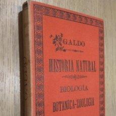 Libros antiguos: ELEMENTOS DE HISTORIA NATURAL BIOLOGÍA BOTÁNICA-ZOOLOGÍA. MANUEL Mª JOSÉ DE GALDO 1895. Lote 127890951