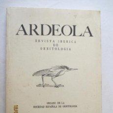 Libros antiguos: ARDEOLA / REVISTA IBÉRICA DE ORNITOLOGÍA / VOLUMEN 32 / NÚMERO 1. 1985.. Lote 127925223