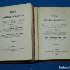 Libros antiguos: (MF) VICENTE CUTANDA - MANUAL DE BOTANICA DESCRIPTIVA , 2 VOLS , COMPLETO, MADRID 1848. Lote 128347015