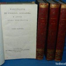 Libros antiguos: (MF) VARIEDADES DE CIENCIAS, LITERATURA Y ARTES . OBRA PERIODICA , MADRID IMP BENITO GARCIA 1803 . Lote 128348003