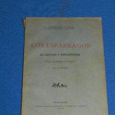 Libros antiguos: (M4-10) F CARMENA Y RUIZ - LOS ESPARRAGAGOS SU CULTIVO Y EXPLOTACION, SISTEMAS DE ARANJUEZ , MALAGA . Lote 128552411
