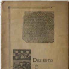 Libros antiguos: DESIERTO DE LOS LEONES. - TORNEL OLVERA, AGUSTIN.. Lote 123252815