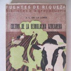 Libros antiguos: FUENTES DE RIQUEZA. CULTIVO DE LA REMOLACHA AZUCARERA POR JOSÉ LUIS DE LA LOMA. MADRID 1933. Lote 128963263