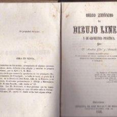 Libros antiguos: DIBUJO LINEAL Y DE GEOMETRIA PRÁCTICA POR ANDRÉS GIRÓ BARCELONA 1846. Lote 129152523