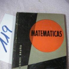 Libros antiguos: ANTIGUO LIBRO DE TEXTO - MATEMATICAS 6º CURSO. Lote 129312199
