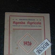 Libros antiguos: MEMORANDUM - AGENDA AGRICOLA EDT. POR EL COMITE DE NITRATO DE CHILE . 1926- 208 PAG. 13X9,5 CM.. Lote 129425951