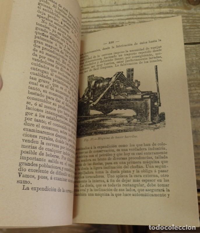 Libros antiguos: Antiguo libro Cerveza,sidra y perada,por D. Joaquín Olmedilla y Puig,año 1904 - Foto 3 - 129969219