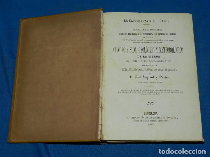 Libros antiguos: (MF) JOSE ESPINAL Y FUSTER - LA NATURALEZA Y EL HOMBRE , CUADRO FISICO, GEOLOGICO Y METEOROLOGICO - Foto 2 - 130302006