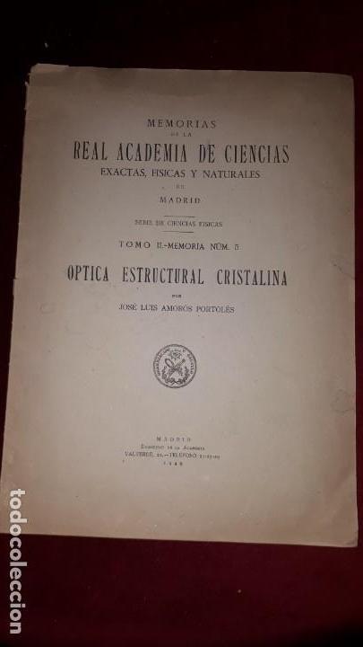 REAL ACADEMIA DE CIENCIAS EXACTAS, FISICAS Y NATURALES DE MADRID. (Libros Antiguos, Raros y Curiosos - Ciencias, Manuales y Oficios - Física, Química y Matemáticas)