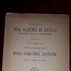 Libros antiguos: REAL ACADEMIA DE CIENCIAS EXACTAS, FISICAS Y NATURALES DE MADRID.. Lote 130766824