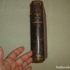 Libros antiguos: COURS DE MINERALOGIE , A. DE LAPPARENT 1899 . EN FRANCES. Lote 130773556