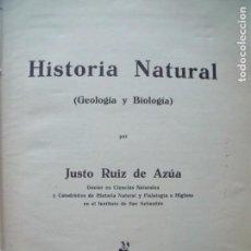 Libros antiguos: JUSTO RUIZ DE AZUA.-HISTORIA NATURAL.-GEOLOGIA.-BIOLOGIA.-GRABADOS.-VITORIA.. Lote 130803560